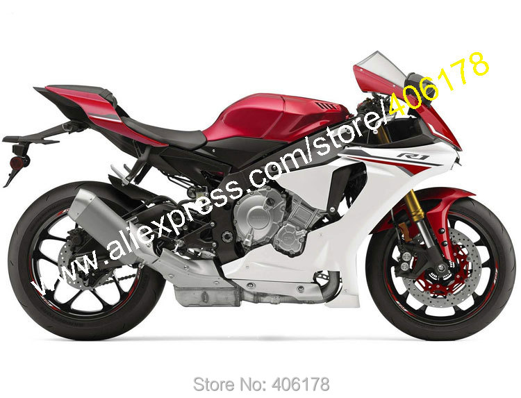 Hot Sales,For Yamaha YZF R1 2015 2016 YZF1000 15-16 YZF-R1 YZFR1 Red Gray ABS Plastic Sports Fairing Kit (Injection molding) hot sales for yamaha yzf r1 2007 2008 accessories yzf r1 07 08 yzf1000 black aftermarket sportbike fairing injection molding