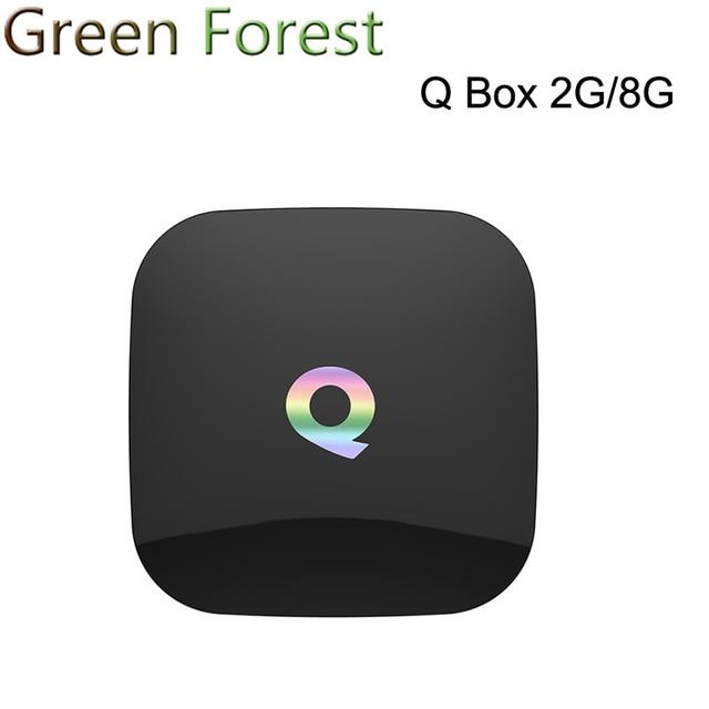 Q caliente Box Android 6.0 Smart TV CAJA Media player Amlogic S905X 64 bits 2 GB 8 GB Gigabit LAN WiFi H.265