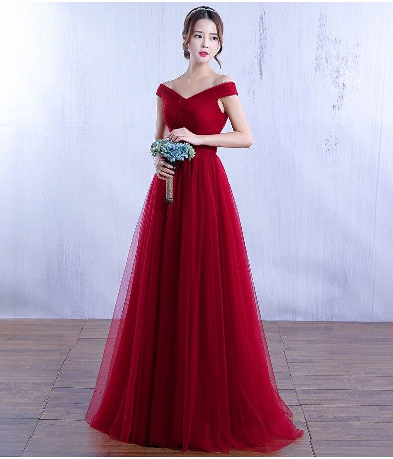 Robe de grillage 2019 nouvelle élégante à une épaule longue mariée rouge minceur robe de soirée de maternité