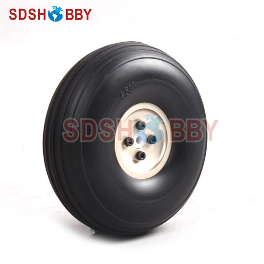 4.5inch PU Wheel for RC Airplane H41mm with D5mm CNC Aluminum Hub image