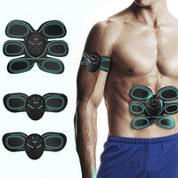 Abdominal Muscle Toner Wireless Electric Stimulator Massager TENS Back Pain Relief ABS Fit Smart EMS Muscle