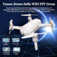 Original Yuneec Breeze Selfie Wifi FPV Quadcopter APP Controlled GPS RC Drone with UHD 4K Camera Follow me Mode