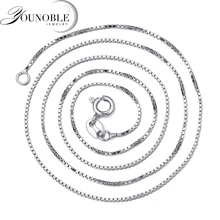 лучшая цена Hot Sale 925 Sterling Silver Link Chains Necklaces For Pendant Charm For Women Men Luxury S925 Jewelry Gift 45cm
