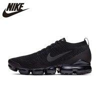 NIKE VAPORMAX FLYKNIT3 Black Man Running Shoes Breathable Anti slip Sports Sneakers AJ6900 004