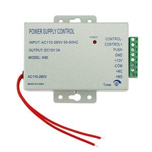 Image 5 - Kit de système de contrôle daccès entièrement étanche avec verrouillage électrique de la grève + télécommande + sonnette de porte + alimentation + sortie + 10 clés livraison gratuite