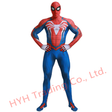 2019New ps4 insomniac spiderman costume Spandex Games Spidey Cosplay Halloween Spider-man Costumes For Adult