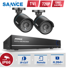 SANNCE DVR Kits 720P AHD Security Camera System 1080N CCTV DVR 2PCS 1200TVL waterproof Outdoor CCTV Camera 1MP Surveillance Kit