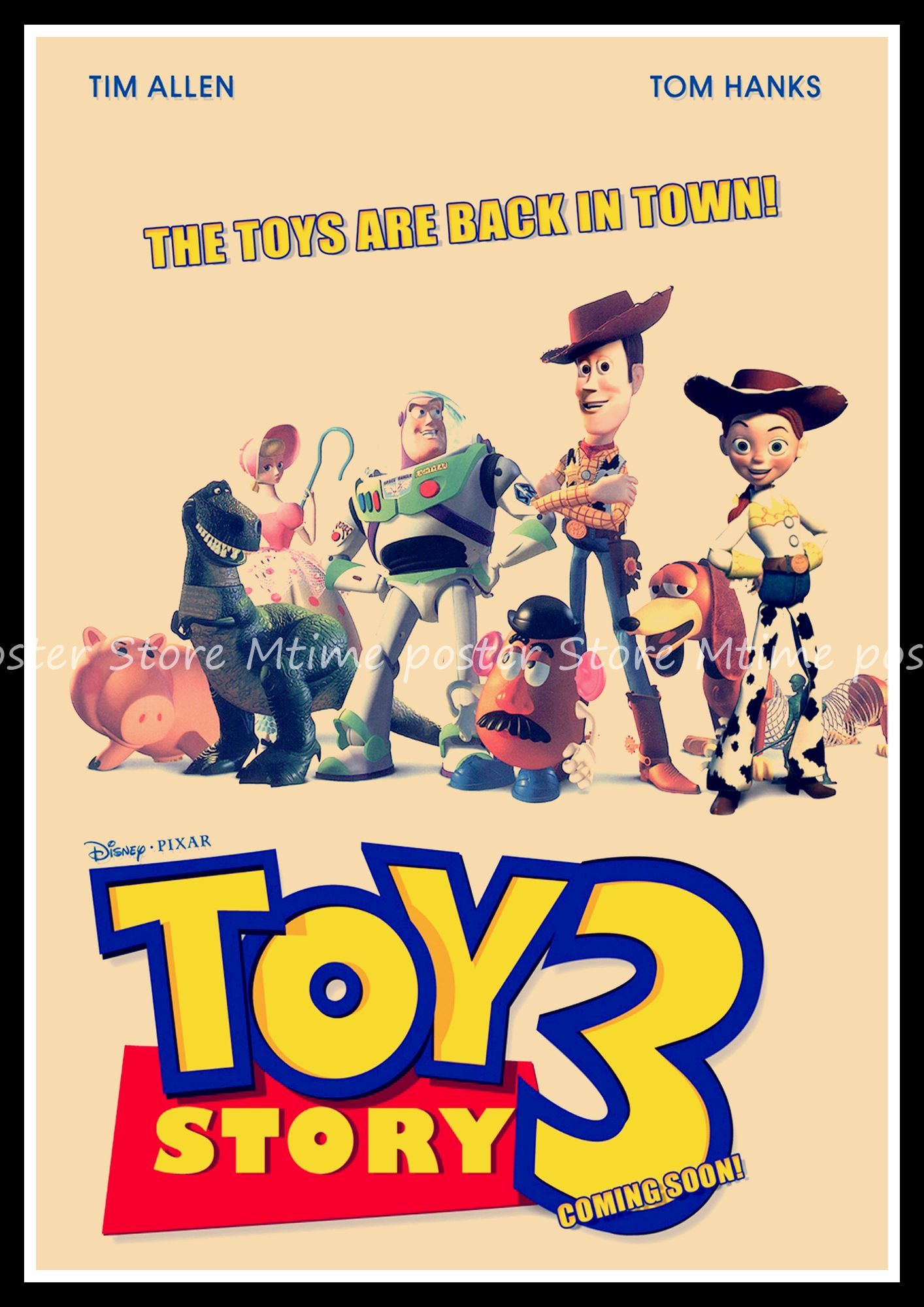 Toy Story Toys Vintage Toy Story 3 Poster Classic Old Movie Vintage Poster Retro