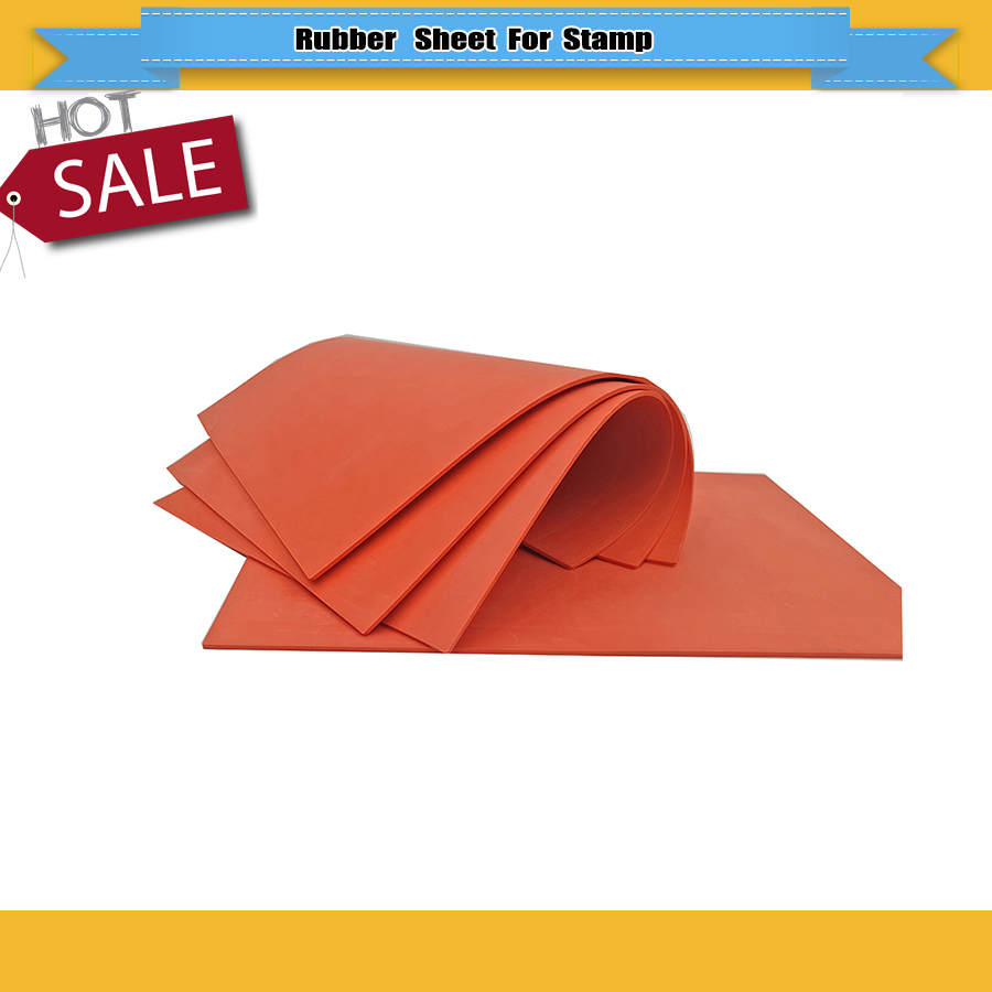 3 Pcs/lot 297*210*2.3mm Red Laser Rubber Sheet Unscented Laser Sheet For Self Inking Stamp Laser Rubber Sheet Free Shipping