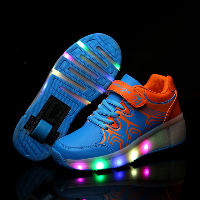 888c5540986a6d Tenis De Rodinhas Children Roller Shoes Kids LED Light up sports Shoes Girls  flash Boys Roller
