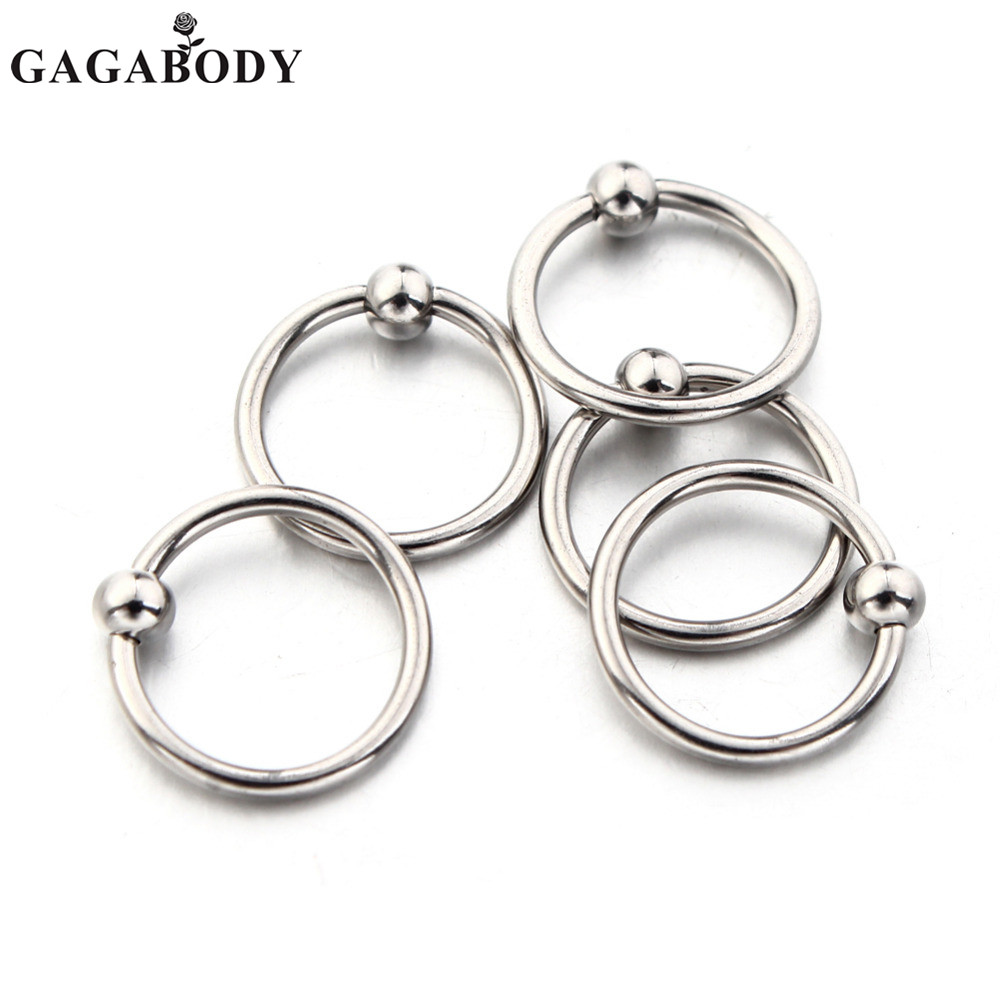 Christmas Lot 2pcs 316l Surgical Steel Captive Bead Nose Rings 16 Gauge  Body Piercing Nose Hoop