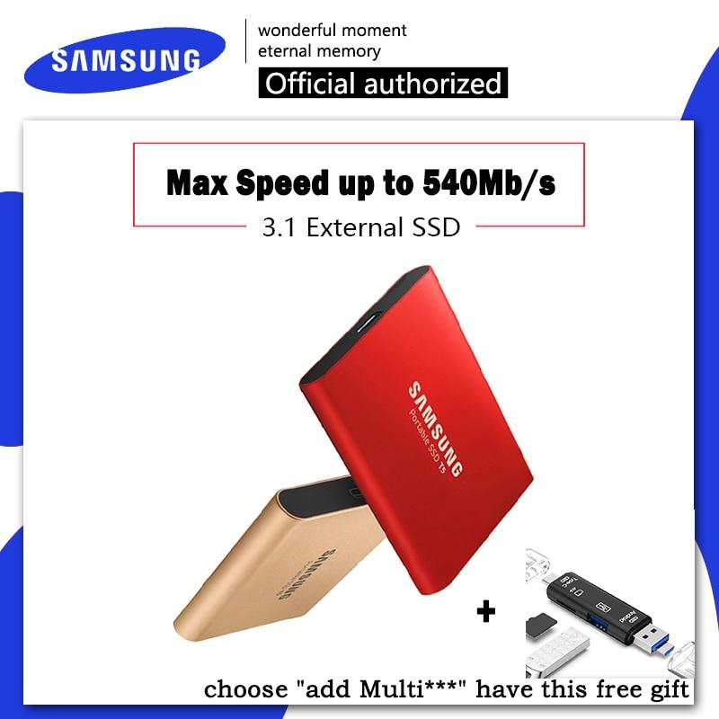 SAMSUNG externe SSD T5 250 GB 500 GB 1 to 2 to USB 3.1 disque dur externe disques SSD externe HDD pour pc de bureau portable noir bleu-in Disques externes SSD from Ordinateur et bureautique on AliExpress - 11.11_Double 11_Singles' Day 1