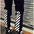 Off White Virgil Abloh Pants Drawstring Striped Casual Harem Sweatpants For Men Free Shipping Mens Compression Pants Off White