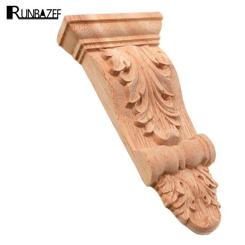 RUNBAZEF Carved Wood Furniture Corbel European Style Decoration Rome Stigma Garden Home Decor Figurines Miniatures Ornaments