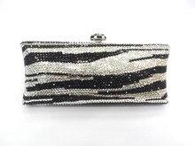 S7735tj тигр зебра узор кристалл леди свадьба свадебные металл вечернее портмоне сцепление мешок чехол сумочка