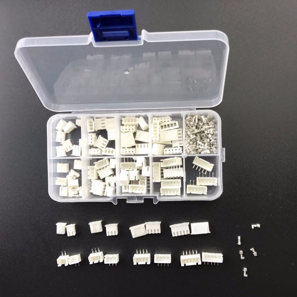 230pcs/LOT XH2.54-AW 2P 3P 4P 5PIN 2.54mm Pitch Terminal Kit / Housing / Pin Header JST Connector Wire Connectors Adaptor XH-AW