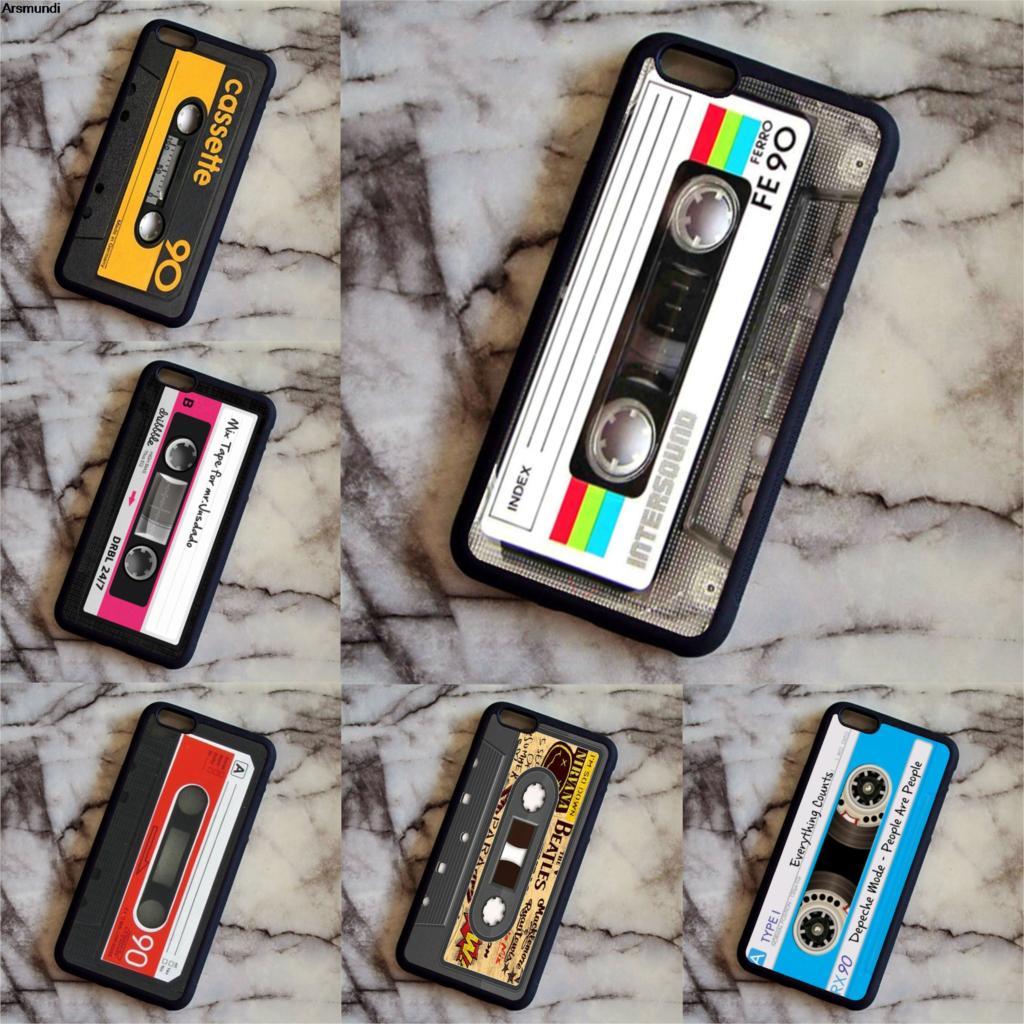 Arsmundi Vintage Art Cassette Audio Camera Painting Phone Cases for Samsung S3 4 5 6 7