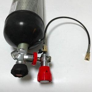Image 4 - Acecare 6.8L 4500psi pcp air rifle/총 carbon fiber gas/헥토 파스칼/페인트 볼 cylinder/조 (& valve & 작성 후 역 & protect 고무 컵