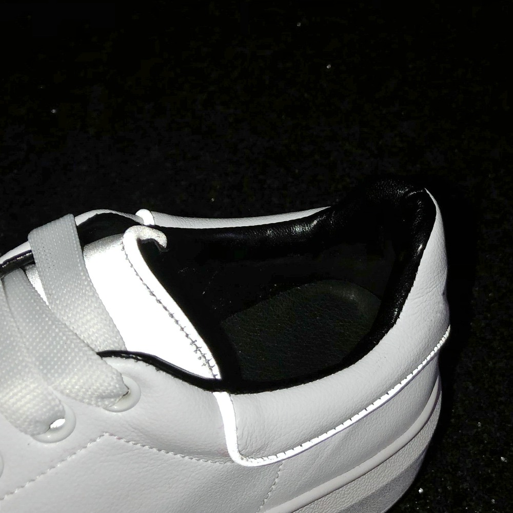 Femmes 801 Décontracté Nouveau 2019 Blanches Jingkubu De Dames Femme Chaussures Cuir Compensées À Plats F801 Femelle En Lacets Mocassins Mode Pour Semelles Réflexion w1gqXUq