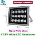 CCTV 15pcs Array White LEDS Illuminator Light CCTV IR Infrared Night Vision For Surveillance Camera