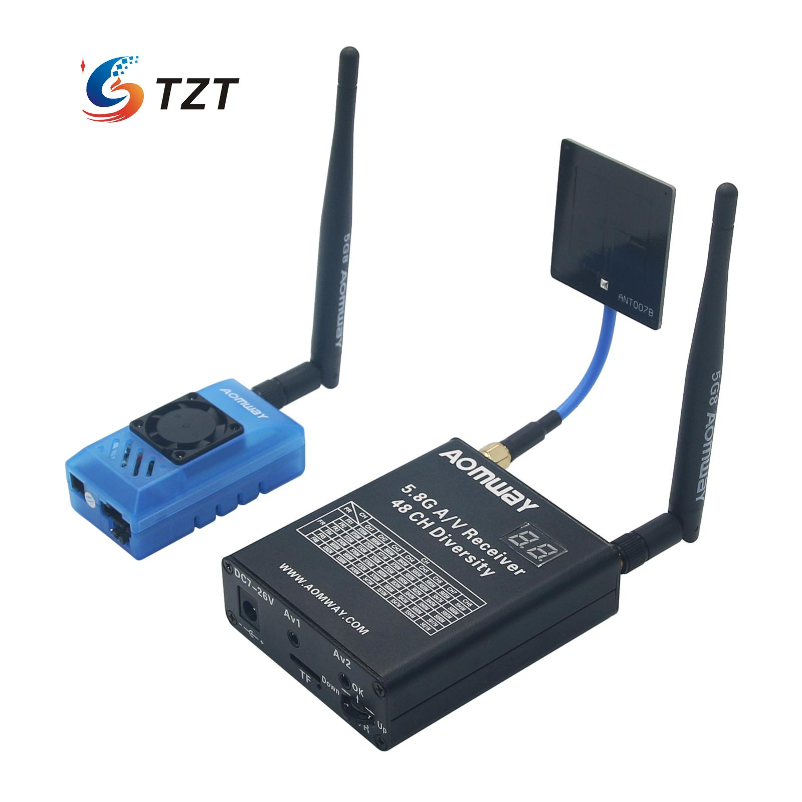 Aomway 5.8G A/V Receiver 48 CH FPV Telemetry Diversity DVR +AOMWAY 5.8G 32CH 1000mw TX Transmitter Camera Kit original aomway rx006 dvr video recorder 5 8g 48ch diversity raceband a v receiver for rc multicopter antenna transmitter part