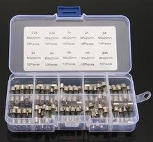 100 Teile/los 5x20mm Elektrische Verschiedene Sicherung Amp flink Glassicherung Mix Set mit Box 0.2A 0.5A 1A 2A 3A 5A 8A 10A 15A