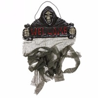 New Halloween Skull Hanging Horror Door Curtain Spooky Castle Gothic Scary Curtain Party Festival Decoration 106