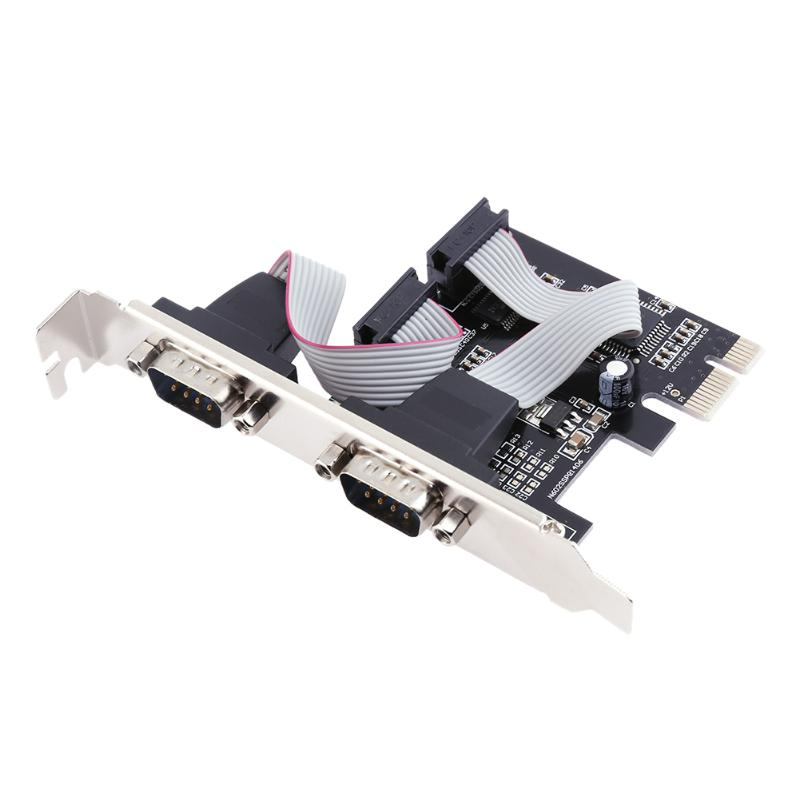 все цены на WCH382L Chipset Parallel and Dual Serial Port to PCI-E PCI Express Adapter Card Converter for Desktop PC Computer онлайн