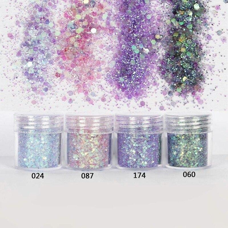 4Boxes( 10ml ==1 Box )Glitter Powder,Epoxy Resin Powder,Nail Glitter Dust Sequins Powder For Nail,Holo Acrylic Glitter Dust , HY