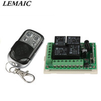 433Mhz Universal DC 12V 4CH Wireless Remote Control Switch Diy Relay Receiver Module And RF Transmitter