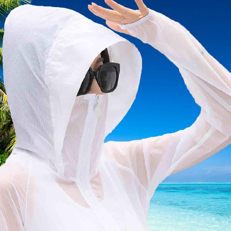 2019 Neue Echtem Uv Sonnenschutz Kleidung Transparent Langarm Hemd Jacke Frauen Strand Tragen Sonnenschutz Abdeckung-ups SorgfäLtige FäRbeprozesse