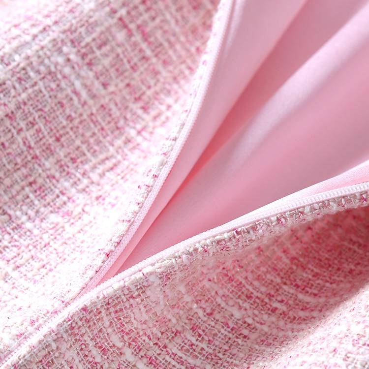 Nieuwe QZ8617030: 2018 roze, dunne, zachte, breezes, kleine geurende wind, zomer jurken. - 5