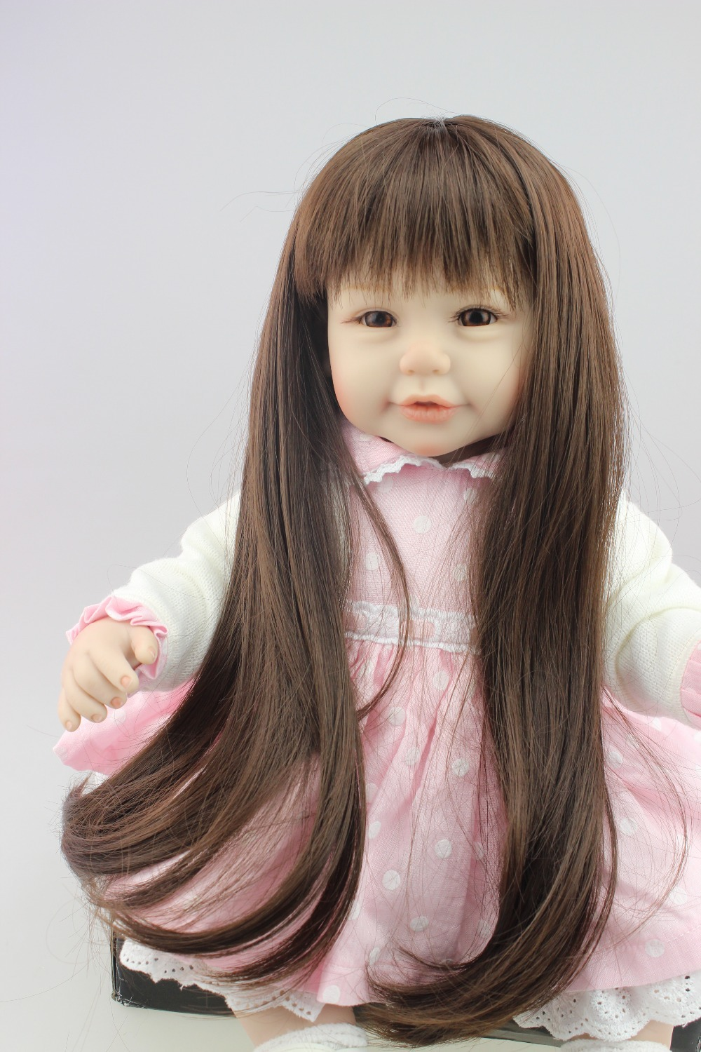 Aliexpress.com : Buy 2015 NEW design Reborn toddler girl doll sweet baby doll long hair pretty ...