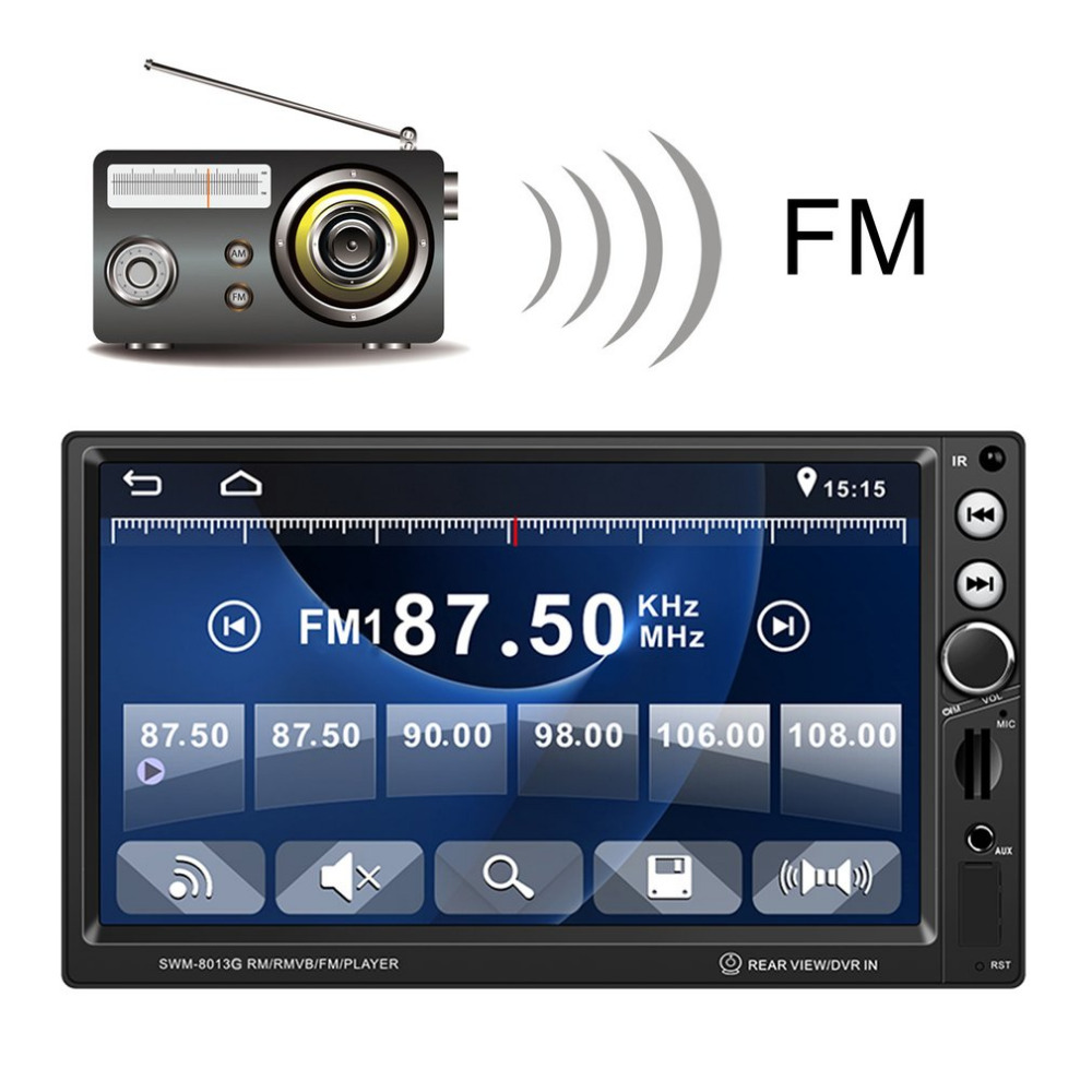 7Inch 8013G 4*60W Large Screen GPS Navigation Car Mp5 Vehicle Audio Video Player Support Brake Prompt Bluetooth With Remote 9 inch car headrest dvd player pillow universal digital screen zipper car monitor usb fm tv game ir remote free two headphones