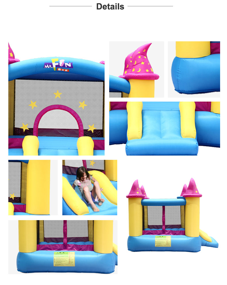 HTB1LSFnSXXXXXbWaXXXq6xXFXXX9 - Mr. Fun Kids Bouncy Castle Inflatable Trampoline Slide with Blower
