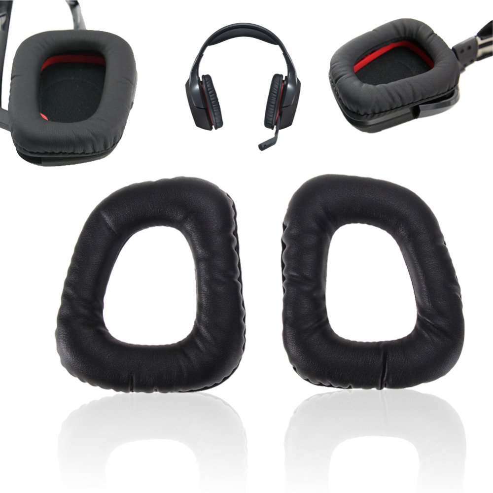 1 Pair Replacement Ear Pads Cushions Earmuffs Replace Ear Pads For Logitech G35 G930 G430 F450 Headphones Headset Case Cover New