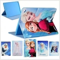 New Kid Cartoon family Elsa Anna Olaf reindeer Flip Child Silicone Case Cover For ipad pro 9.7 tablet +screen film