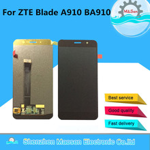 "M & Sen Para 5.5 ""ZTE Blade A910 BA910 LCD screen display + digitalizador touch Negro/blanco/oro libre del envío"