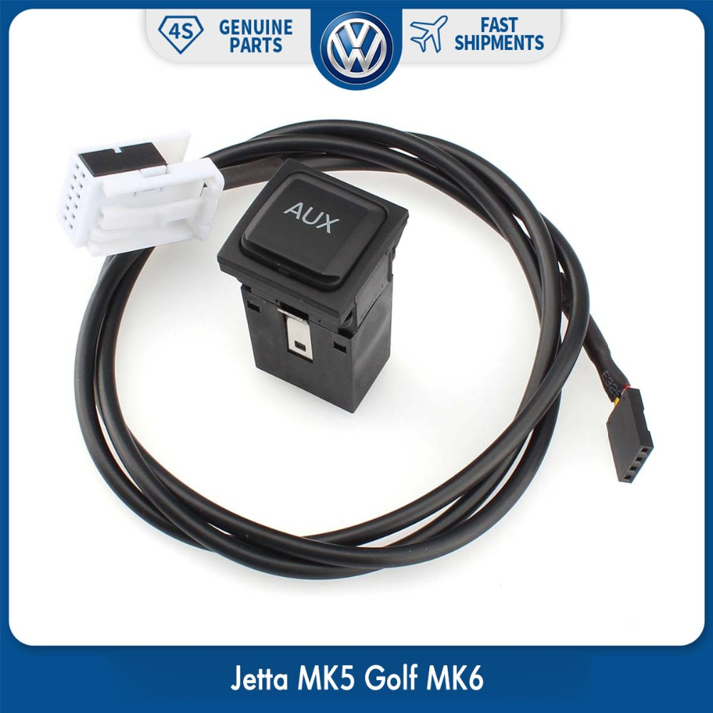 OEM Car Audio AUX USB RCD510 RCD310 Switch Cable for VW Volkswagen GOLF MK6 Jetta MK5 цена