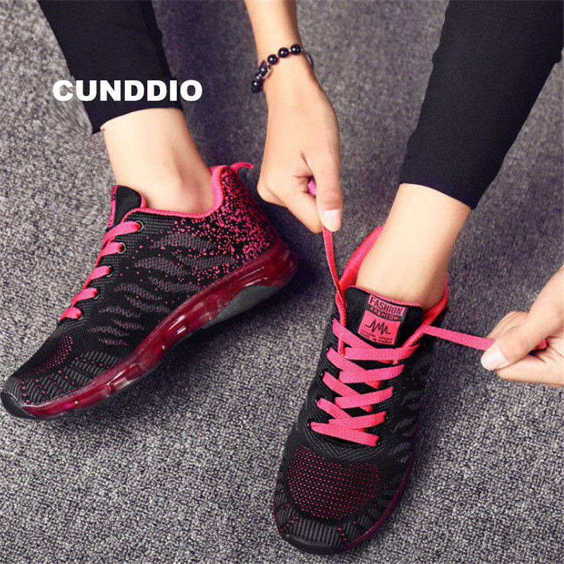 Women Casual shoes Air damping Sneakers woman outdoor women Flat shoe fashion Breathable mesh joker girl leisure tenis feminino women shoes sneakers 2018 fashion mesh breathable non slip lightweight female shoe woman tenis feminino