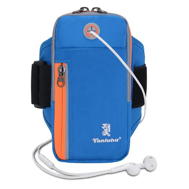 Running Bag TANLUHU 395 Nylon Sports Bag For Mobile Phone Case Men Women Adjustable Wrist Bag Arm Bag