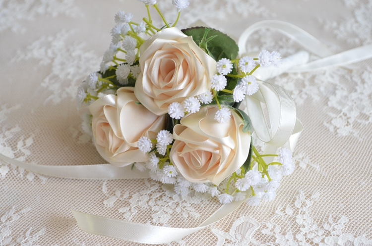 Bridesmaid bouquet real rose flowers wedding bouquet hand made rose bridesmaid bouquet real rose flowers wedding bouquet hand made rose with white baby breath artificial flower wedding bouquet in wedding bouquets from mightylinksfo