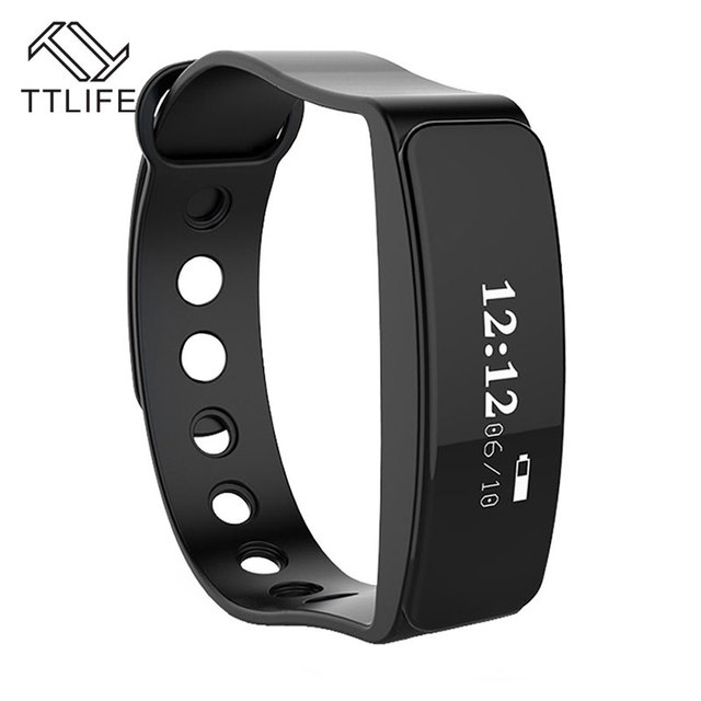 Ttlife bluetooth v5 sueño rastreador deportes podómetro pulsera pulsera banda de muñeca inteligente remoto a prueba de agua para iphone 7 6 android