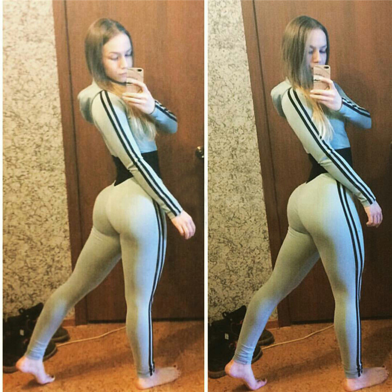 long sleeve hooded side black lines grey light blue cross back one piece jumpsuit catsuit dancing activewear yoga pant workout legging sports legging outfits gym gear (16)