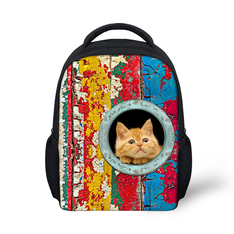 Trendy Kids School Bag for Boys Cute Pet Dog Print Children School Bag Kindergarten Baby Book Bag Animal Cat Mochila infantil