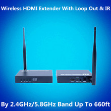 660ft Wireless HDMI Extender 200m Wireless Video Audio Transmission 1080P Wireless HDMI Transmitter Receiver With Loop out & IR