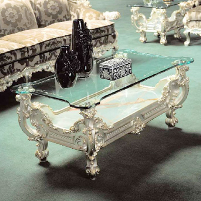 The New Coffee Table Style Luxury Villas Carved Wood Reception Several Large Custom Made Gl
