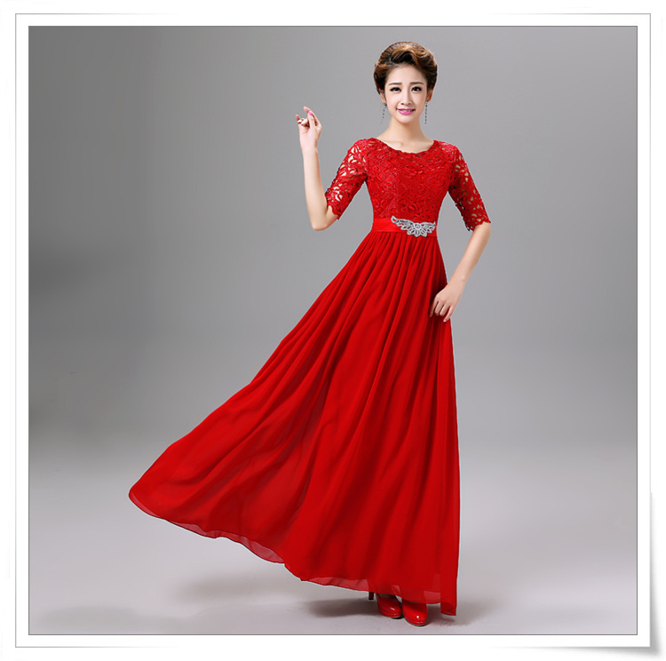 0994e029cb engagement floor scoop chiffon bridesmaid a line lace modest ...