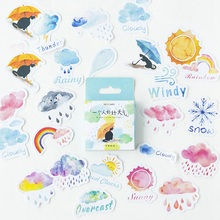 46pcs/set Good Or Bad Weather Stickers Decorative Stationery Stickers Scrapbooking DIY Diary Album Stick Lable 46pcs 1pack stationery stickers forest fruit animals diary planner decorative mobile stickers scrapbooking diy craft stickers