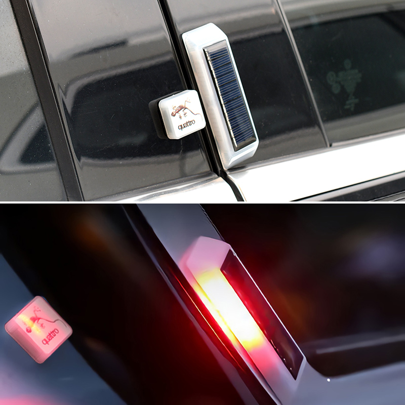 4PCS Universal Wireless Car Opening Door Singal Lights LED Safety Lamps Styling Strobe Magnetic Wireless Flashing Anti Collision Signal Red